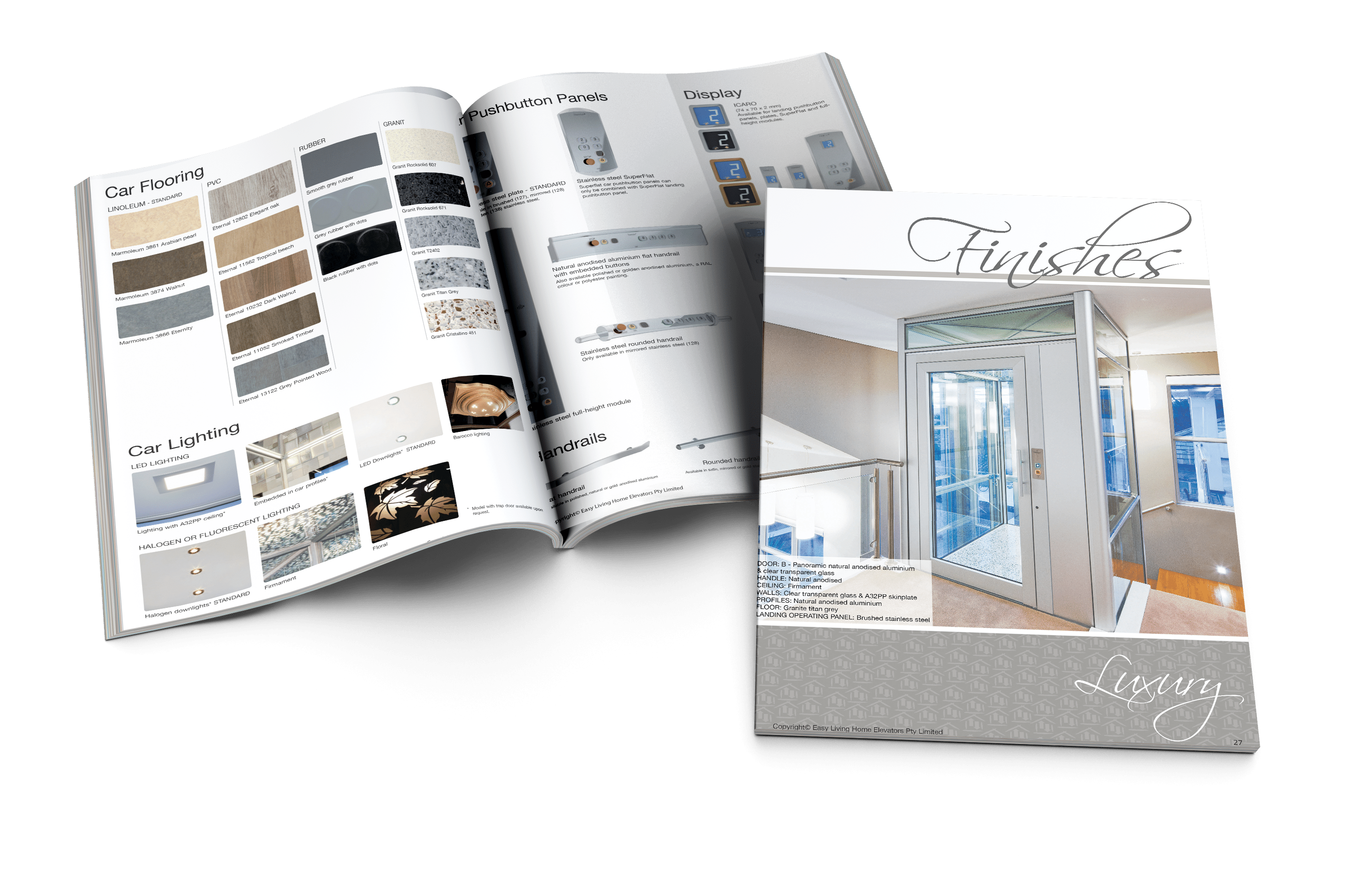 DomusLift Finishes brochure