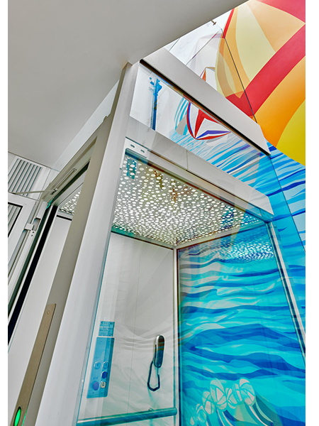 DomusLift glass residential lift